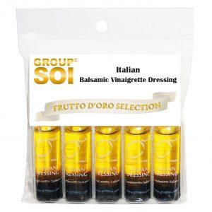 Frutto d'oro, Italian Balsamic Vinaigrette Dressing, condimenti monodose, condimenti, olio extra vergine di oliva, aceto balsamico, monoporzione, kit