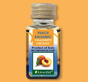 Peach balsamic Vinaigrette, live oil
