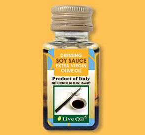 soy sauce dressing, live oil