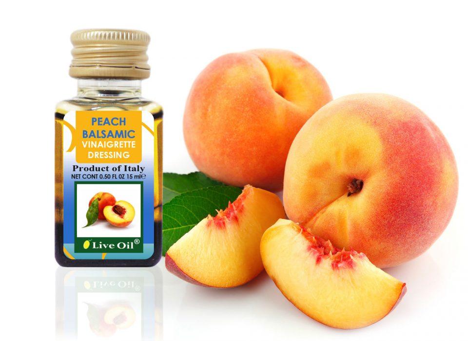 Peach Balsamic Vinaigrette Dressings, Live Oil
