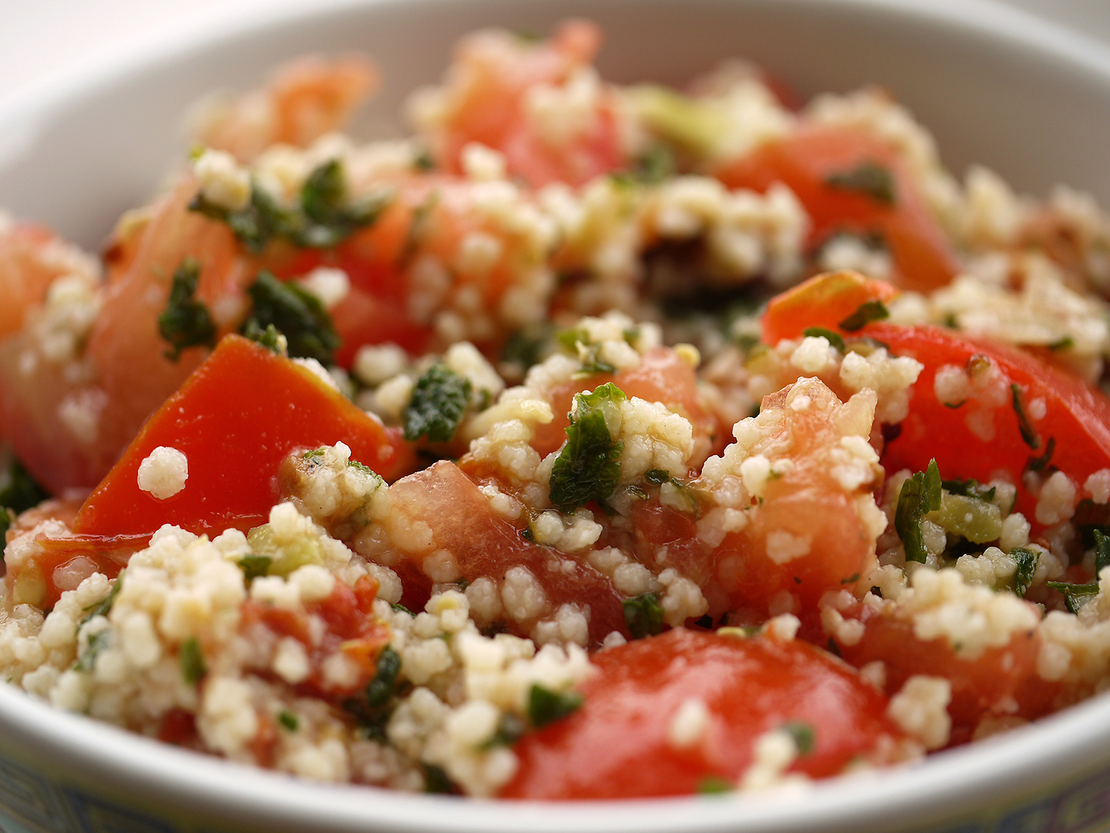 Tabbouleh with Strawberry Vinaigrette Dressing, Tabulè con Condimento Balsamico alla Fragola